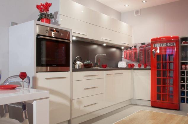 Zobacz galerię zdjęć Białe meble kuchenne Wystrój wnętrz nowoczesnych  Stro   -> Meble Kuchenne Biale Retro