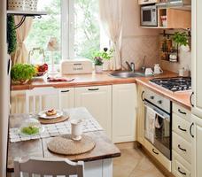 Jasne meble kuchenne. Mała kuchnia: stylowa aranżacja