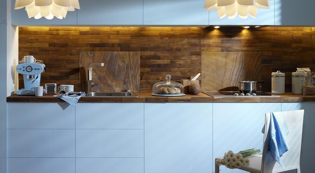 Modne wnętrze Niebieska kuchnia -> Niebieska Kuchnia Inspiracje