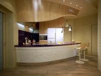 Kuchnia z barkiem - oryginalny projekt kuchni z salonem