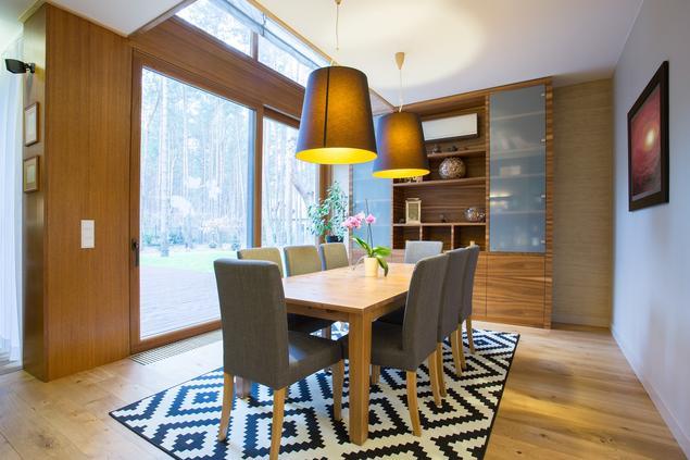 Nowoczesne wnętrza - jadalnia w stylu skandynawskim
