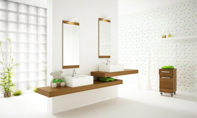 Nowoczesna aranżacja łazienki. Biała łazienka pełna światła