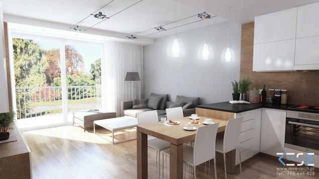 Aneks kuchenny i salon, pomysł na aranżację wnętrza