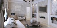 Piękny i elegancki salon w stylu glamour